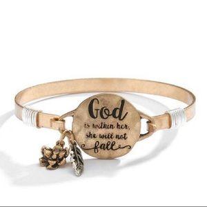 Christian Sentiment Bracelet Gold Silver